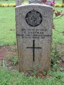 Private Yeatman's Grave
